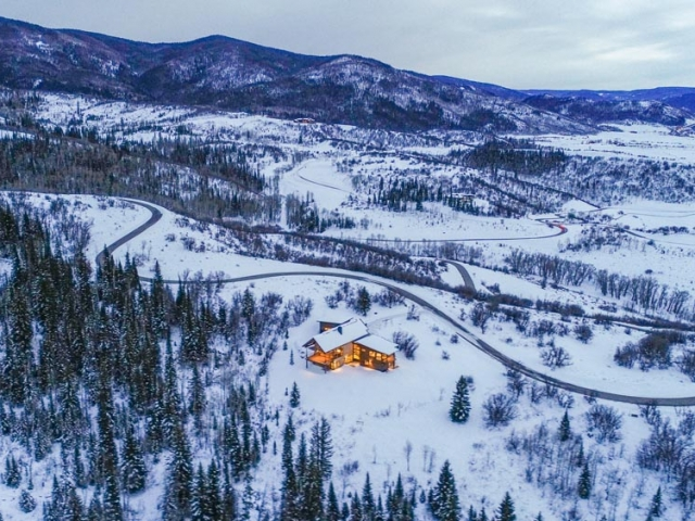 Alpine Mountain Ranch Property Twilight Drone 39 640x480 c - Homesite #12: MOONLIGHT RUN - SOLD