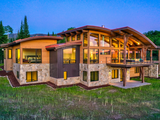 Alpine Mountain Ranch Club June 2020 Lot 18 Twilight Drone Aerial 18 scaled 640x480 c - Homesite #18: SUNSET RETREAT - SOLD