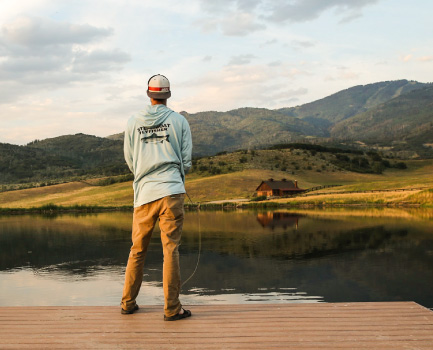 fishing facing lake amrc - Lifestyle