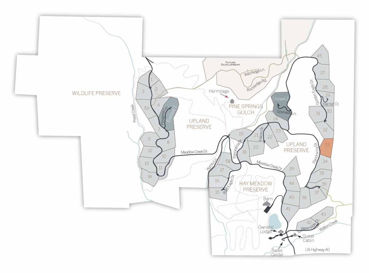 LOT MAP 33 - Homesite #33
