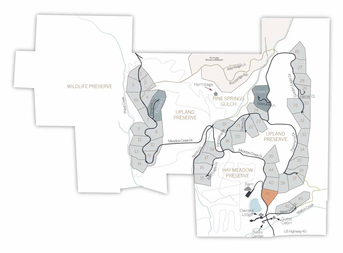 LOT MAP 41 - Homesite #41