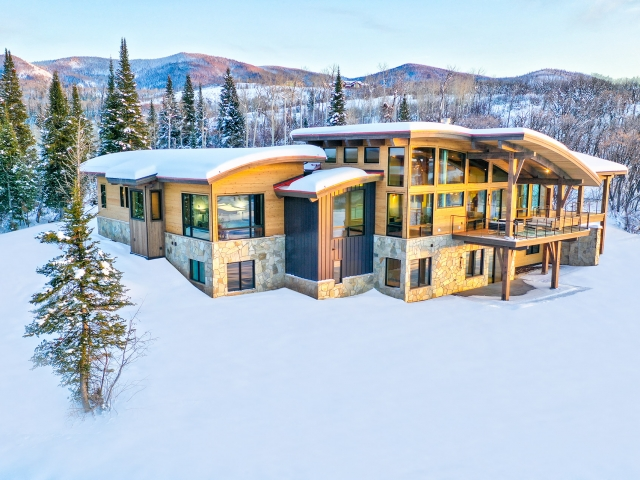 Lot 18 34815 Panorama Dr  Steamboat Springs  CO 80487 December 20  2019 Sunset Drone Aerial 4 640x480 c - Homesite #18: SUNSET RETREAT - SOLD