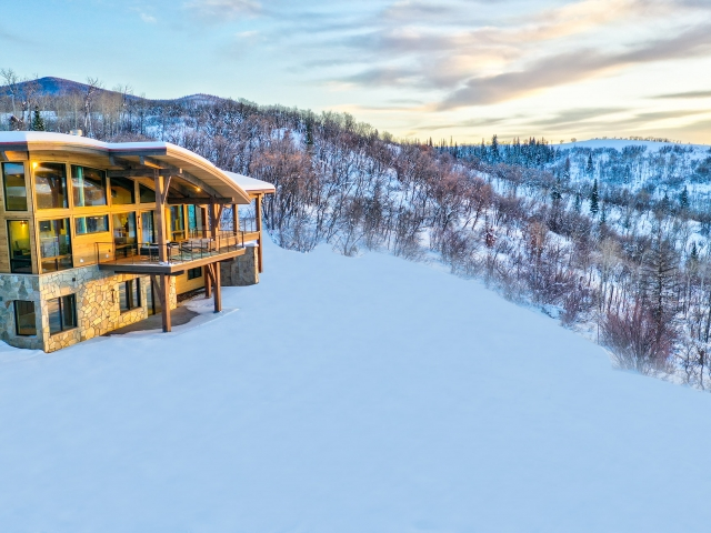 Lot 18 34815 Panorama Dr  Steamboat Springs  CO 80487 December 20  2019 Sunset Drone Aerial 7 640x480 c - Homesite #18: SUNSET RETREAT - SOLD