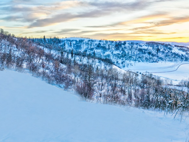 Lot 18 34815 Panorama Dr  Steamboat Springs  CO 80487 December 20  2019 Sunset Drone Aerial 8 640x480 c - Homesite #18: SUNSET RETREAT - SOLD