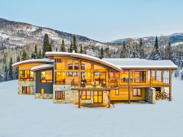 Lot 18 34815 Panorama Dr  Steamboat Springs  CO 80487 December 20  2019 Twilight Drone Aerial 10 640x480 c - Homesite #18: SUNSET RETREAT - SOLD