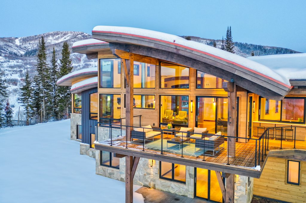Lot 18 34815 Panorama Dr Steamboat Springs CO 80487 December 20 2019 Twilight Drone Aerial 12 1024x682 - Alpine Mountain Ranch and Club Launches Design Build Program