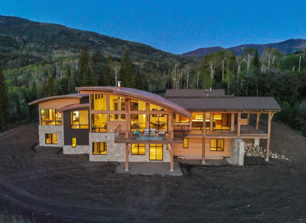 Lot 18 August 8 2019 Drone Twilight Aerial 14 1024x746 - Sunset Retreat Brings Best of Colorado Mountain Living to Your Doorstep