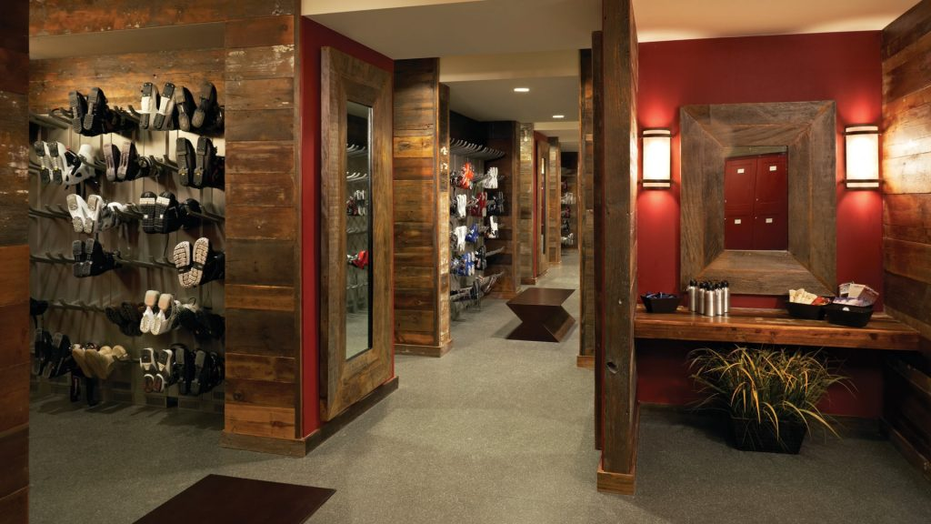 Summit Club locker room w boots 1024x576 - Alpine Mountain Summit Club offers Exclusive Slopeside Access to Steamboat Ski Resort