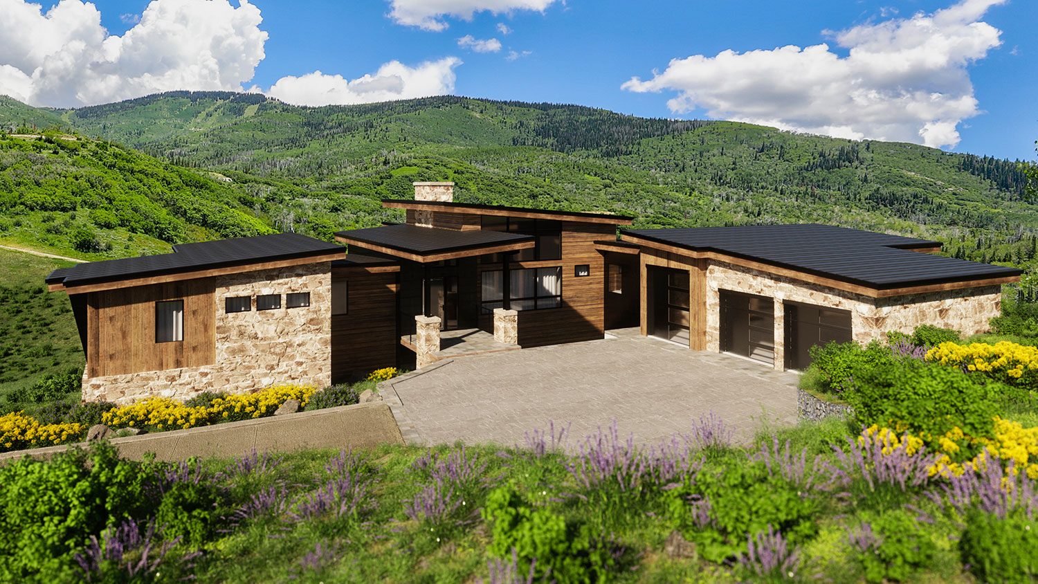lot 17 spring 2 - Spring Kicks-Off Active Season of Home Building, Headlined by the Mountain Modern Trilogy Residence