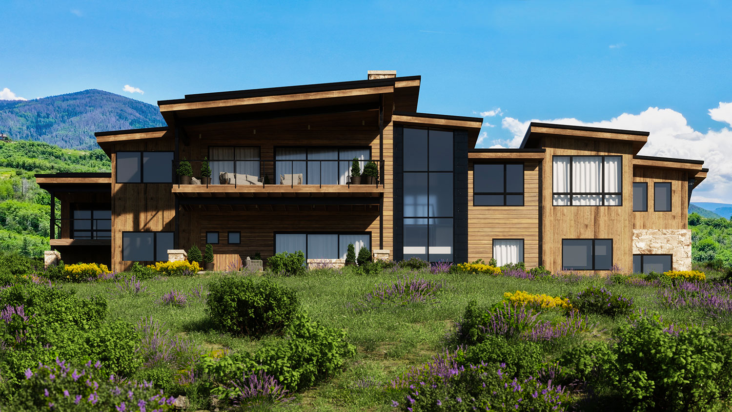 lot 17 spring 3 - Spring Kicks-Off Active Season of Home Building, Headlined by the Mountain Modern Trilogy Residence