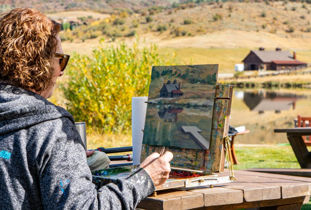 Plein Air Alpine Mountain Ranch 1024x692 - Philanthropy + Community