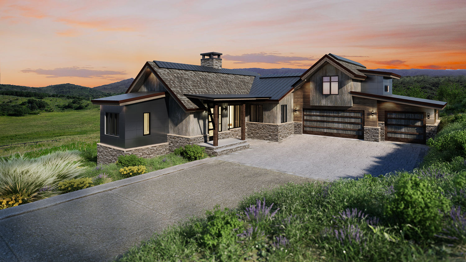lot 44 spring 3 - Spring Kicks-Off Active Season of Home Building, Headlined by the Mountain Modern Trilogy Residence