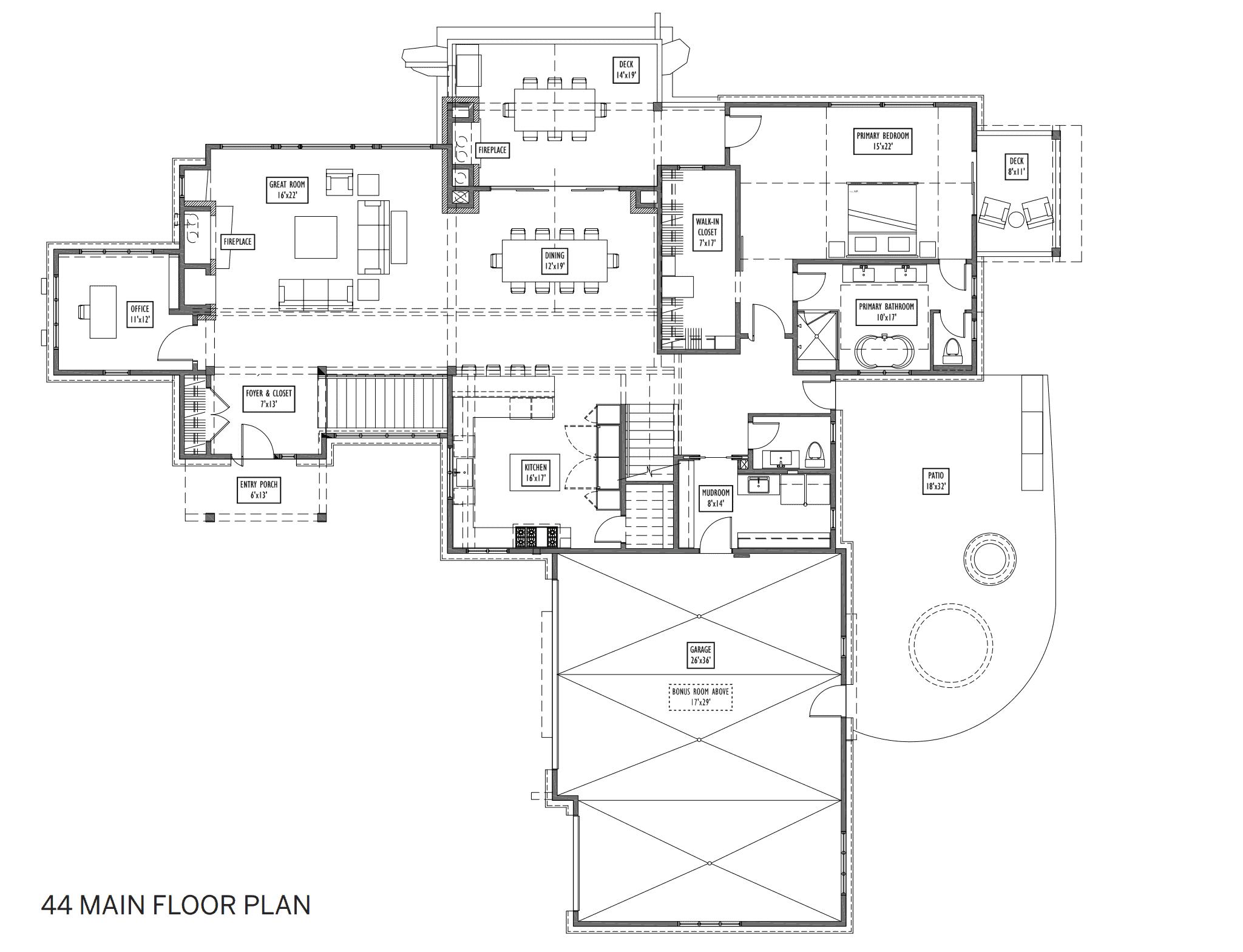 lot 44 floor plan 1 - Alpine Mountain Ranch & Club Broker Toolkit